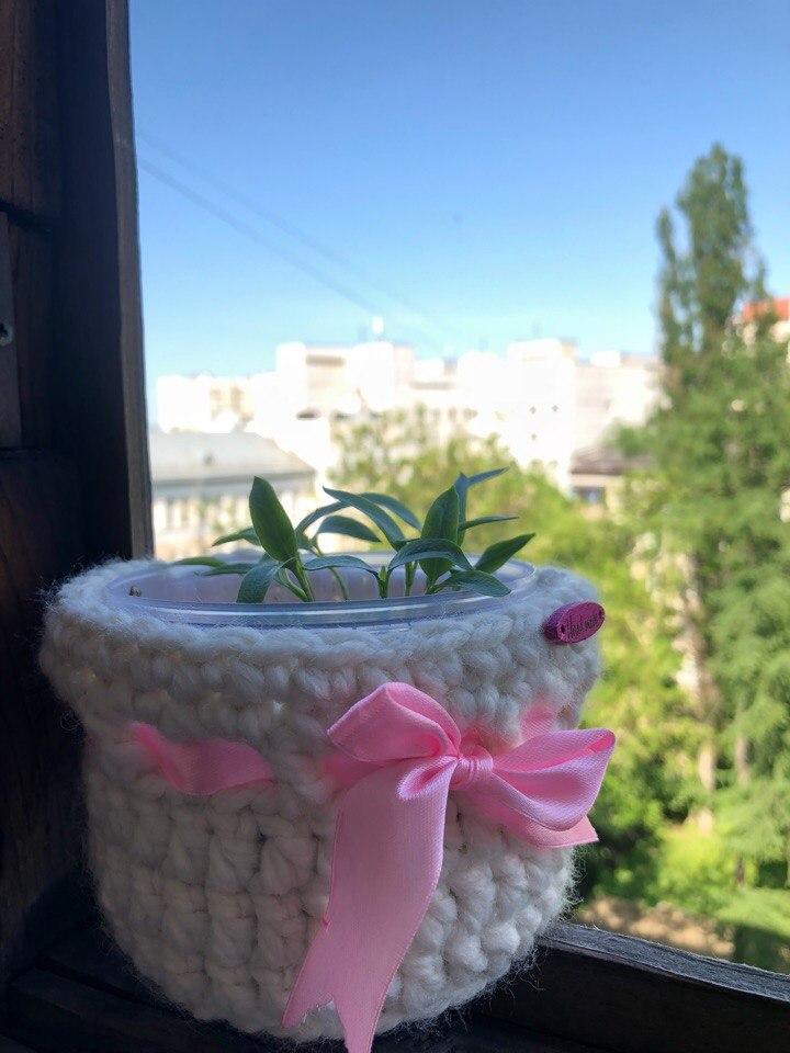 цветочный горшок своими руками