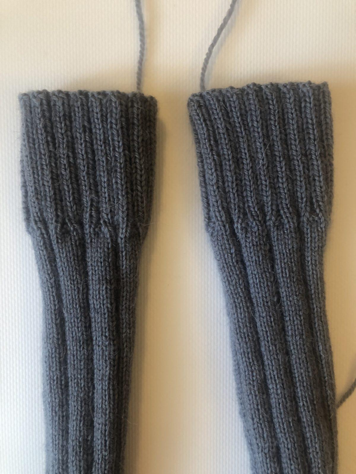 укрепленная пятка носки на пяти спицах пошаговая инструкция как