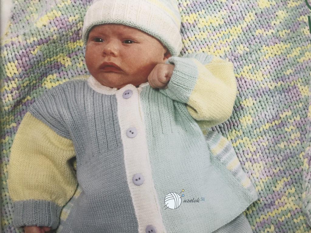 Комплект на новорожденного спицами