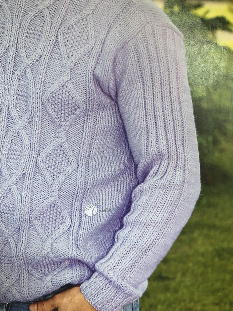 Мужской свитер спицами