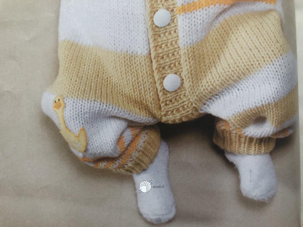 Схема комбинезона спицами на новорожденного