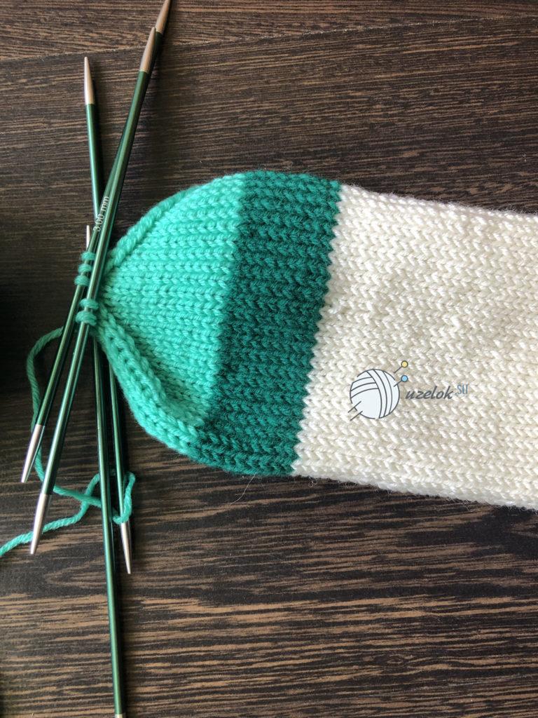 Укороченные носки спицами