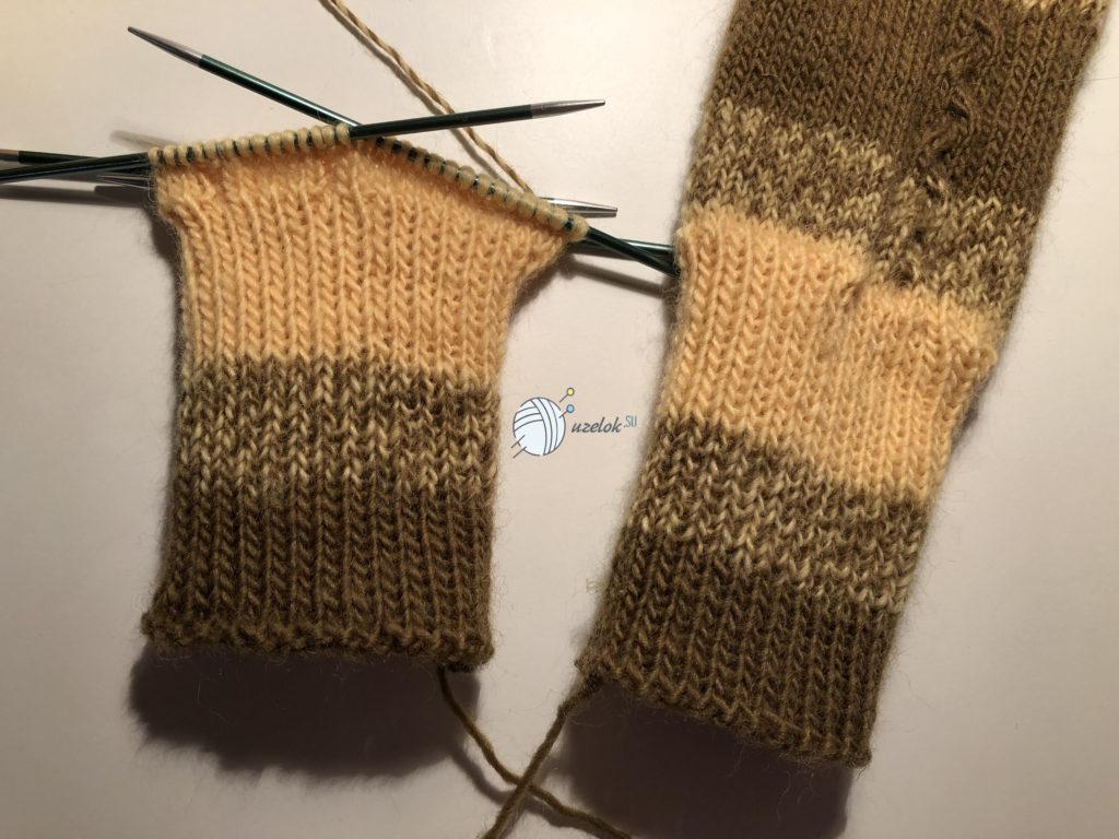 Носки с косой спицами