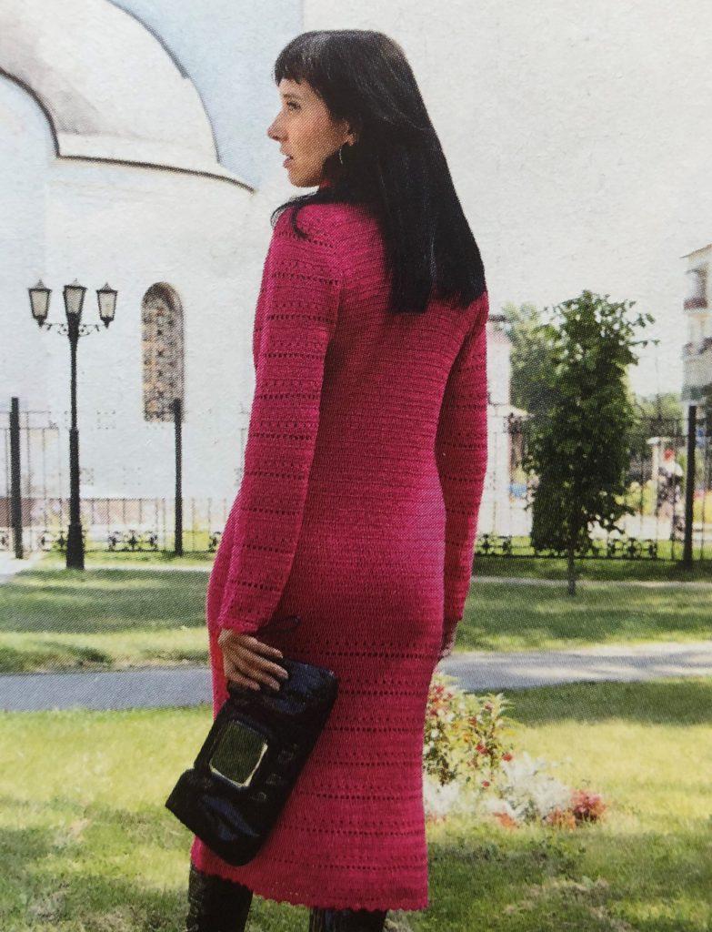 Схема платья крючком