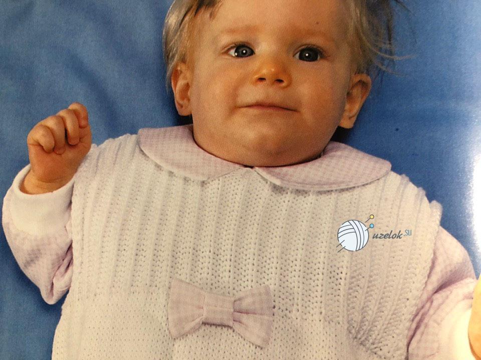 Схема вязанного комбинезона для новорожденного спицами