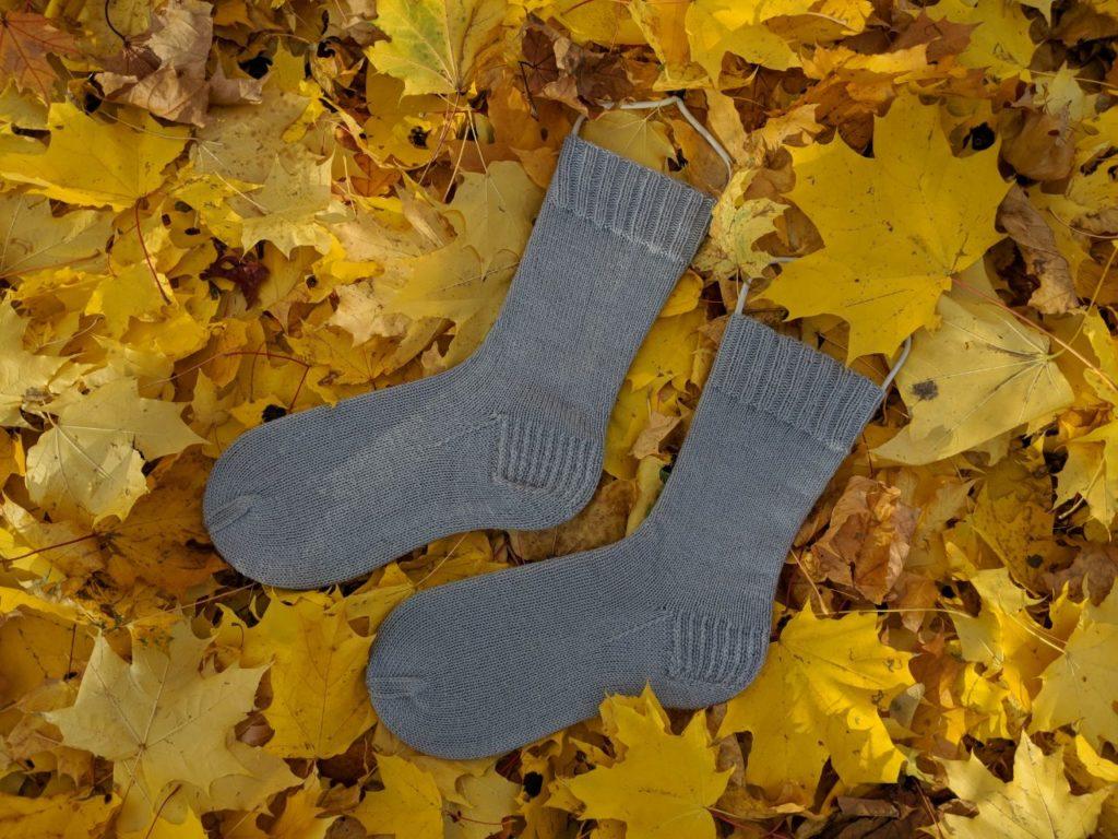 Мужские носки спицами, размер 42-43
