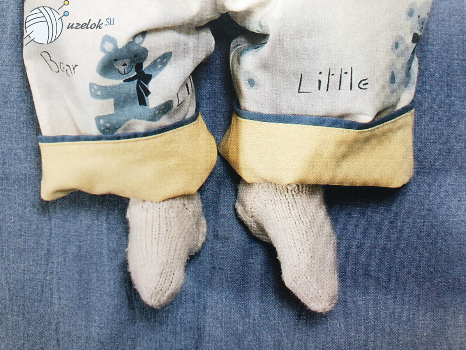Размер детских носков спицами: таблица