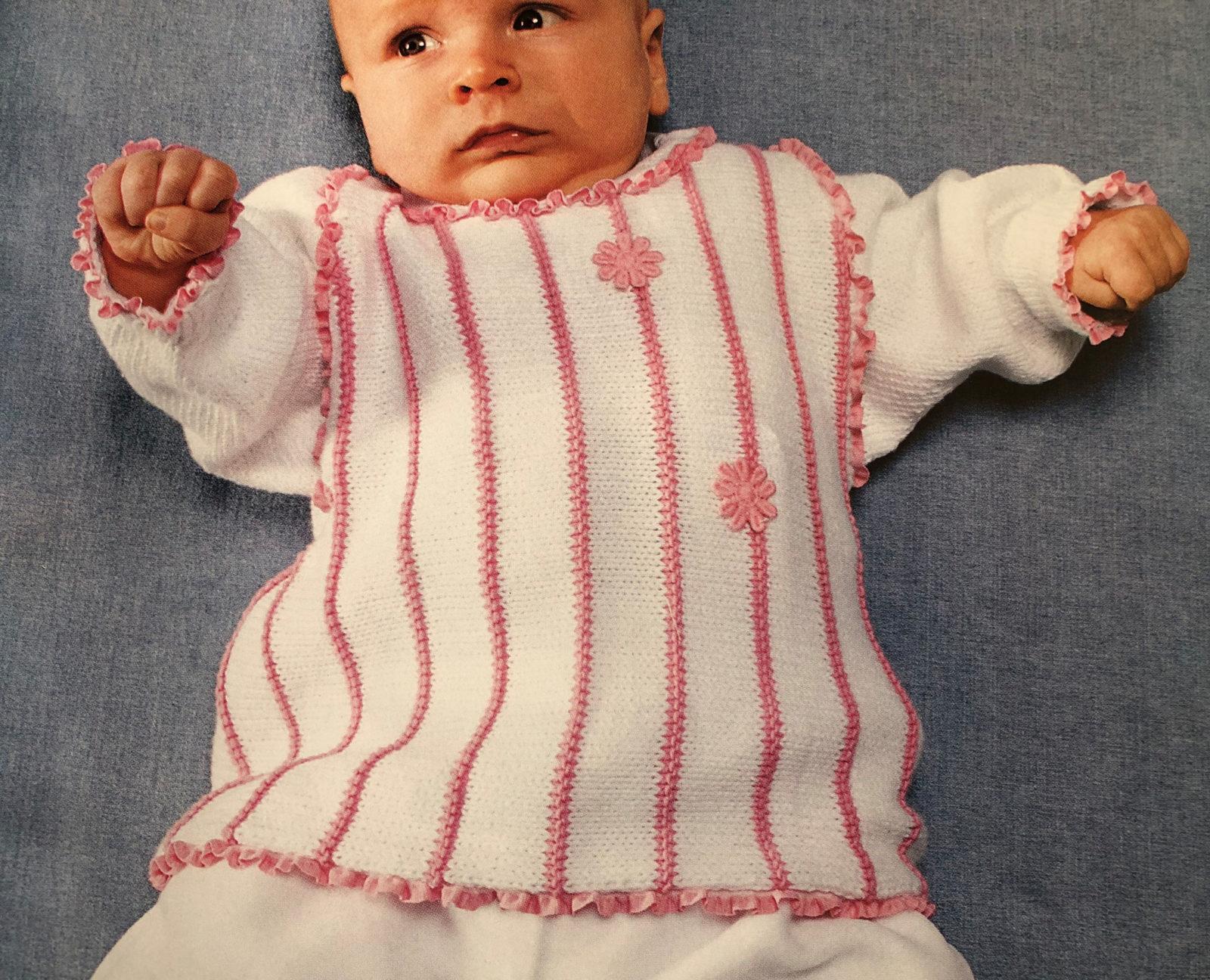 Джемпер для новорожденного спицами