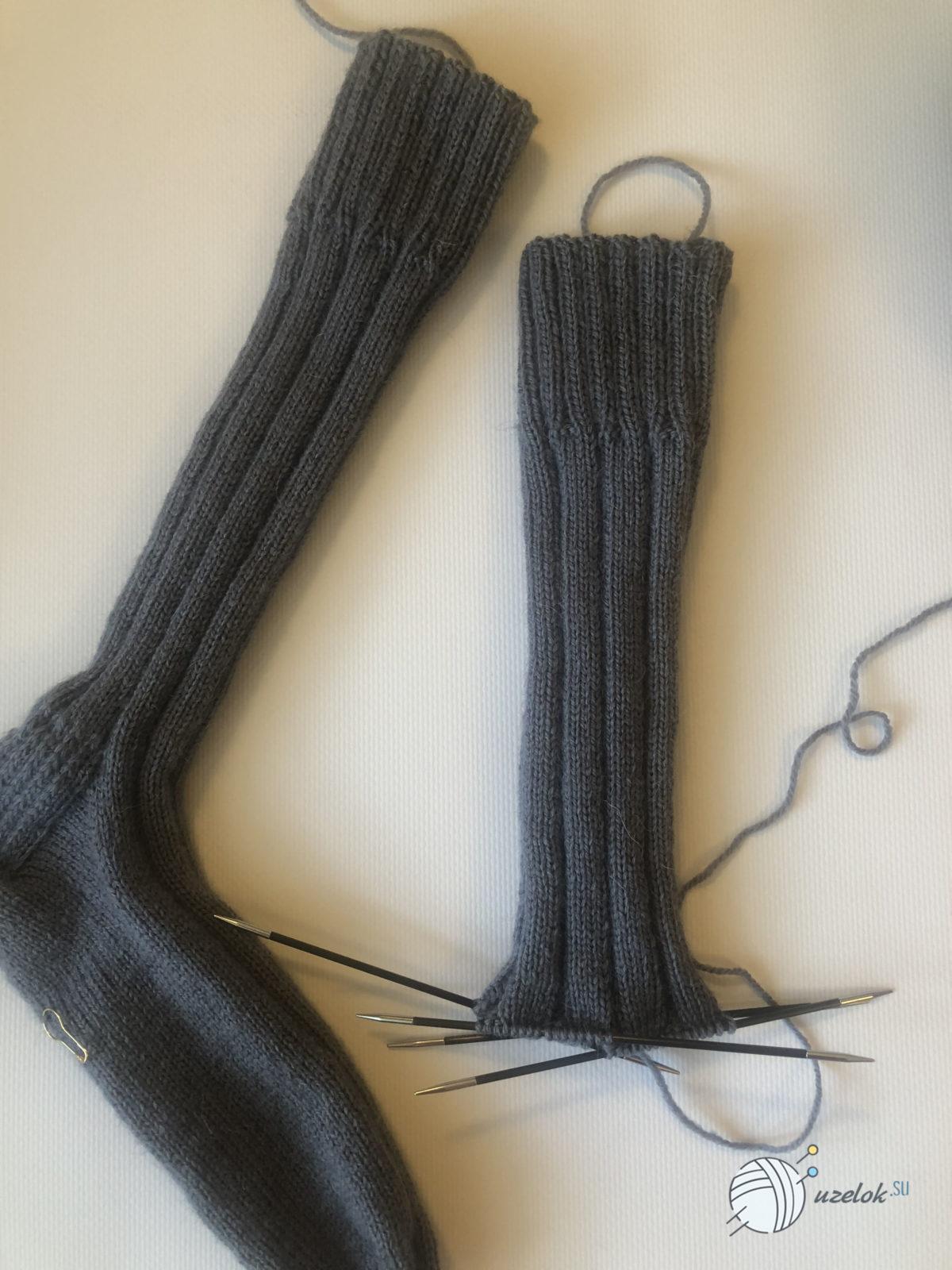 Носки спицами на 39 размер ноги