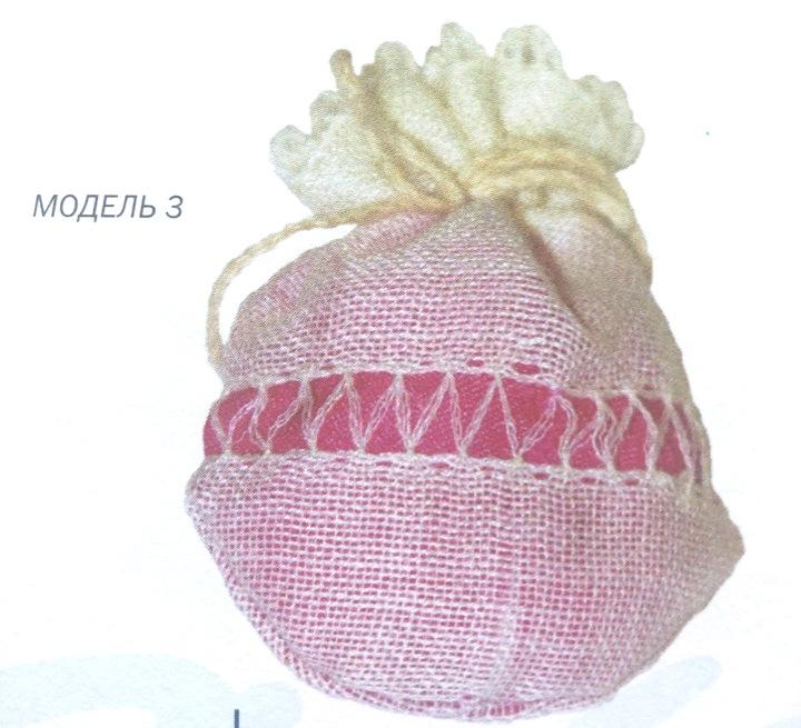 Саше с вышивкой: 6 схем