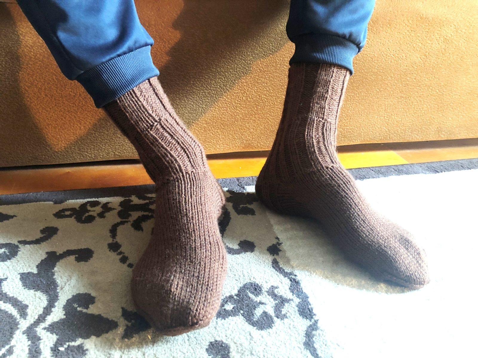 Как связать носки мужчине