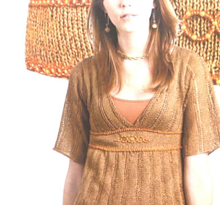 Летняя женская туника спицами