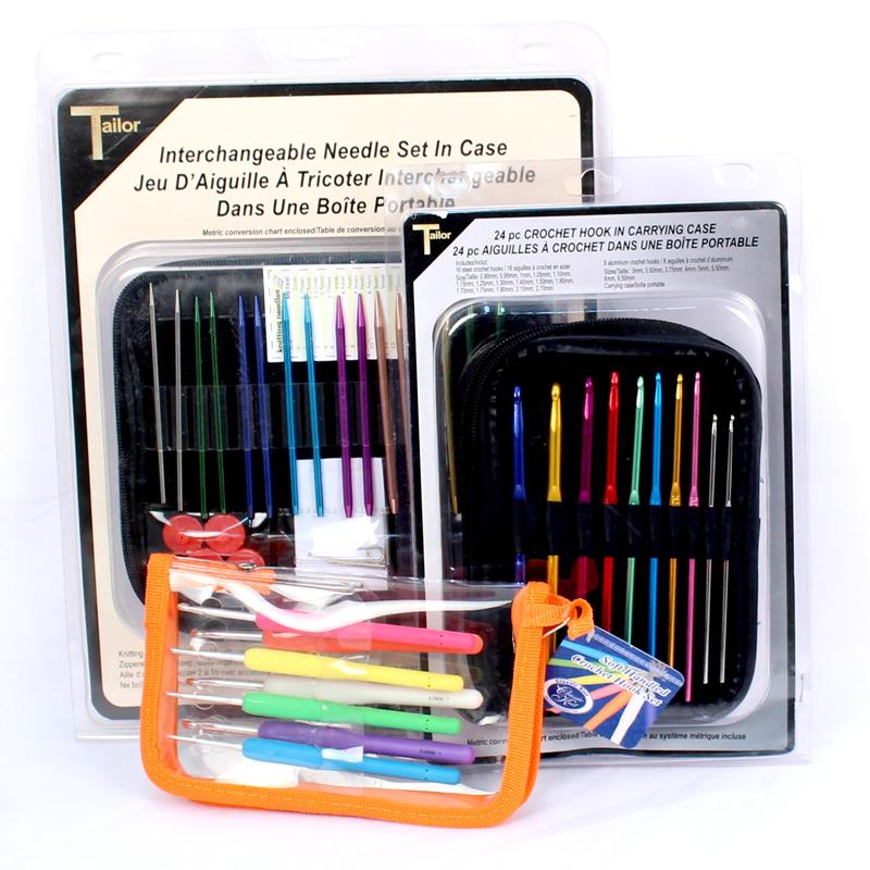 knitting needles and hooks set