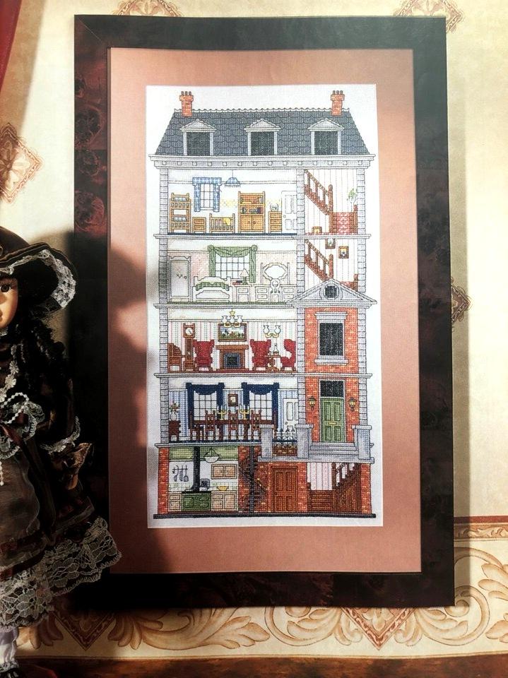 Схемы вышивки крестом дома