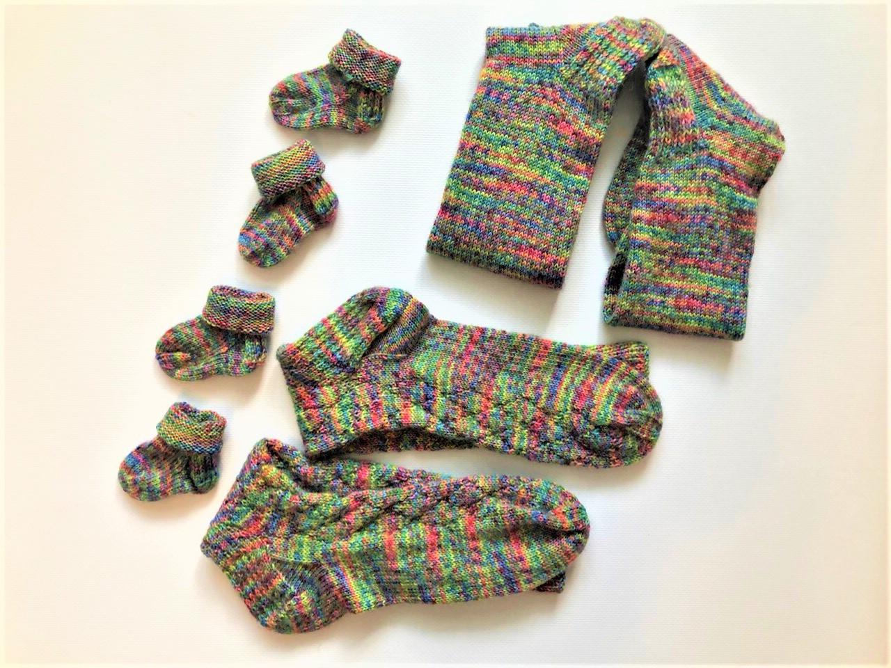 Носки для всей семьи спицами