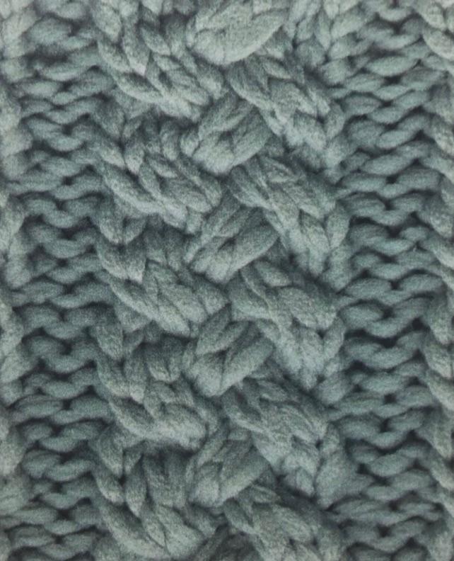 Жгутообразная плетенка спицами