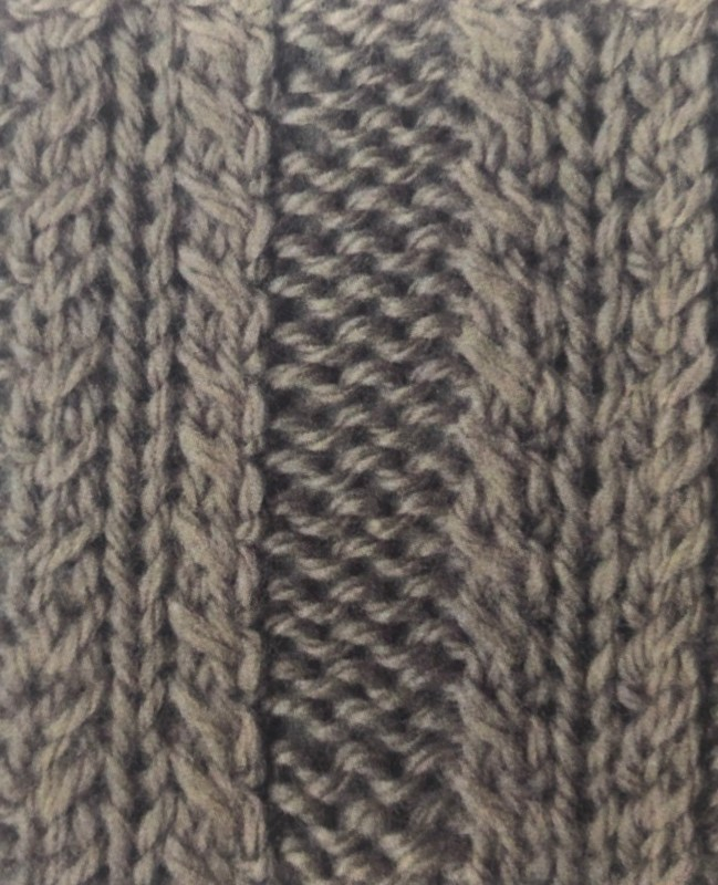 Плетенка из 5 петель спицами