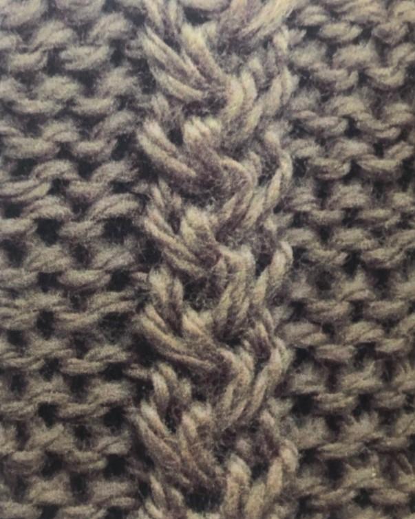 Широкая плетенка спицами