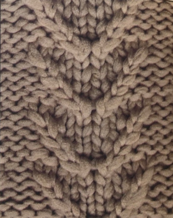 Рельефная плетенка спицами