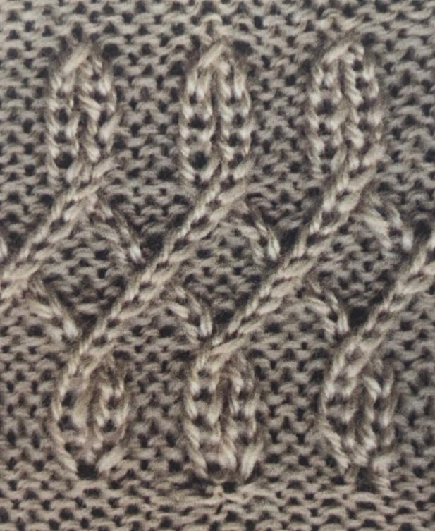 Оригинальная плетенка спицами