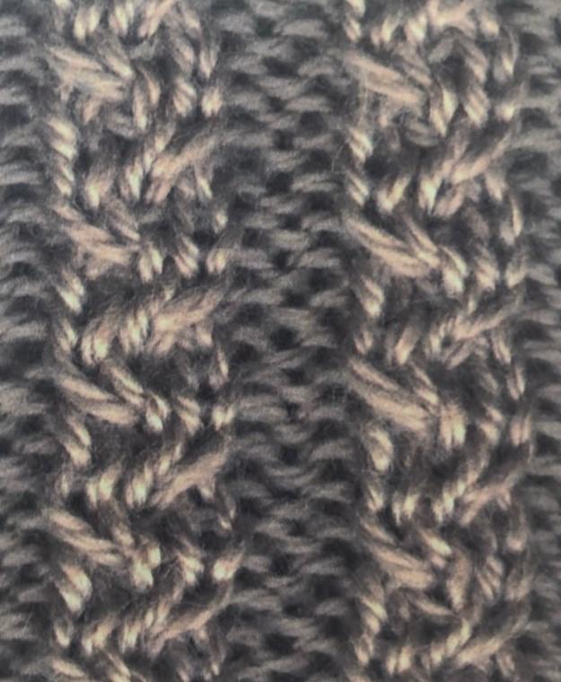 Плетенка - косичка спицами