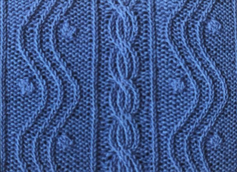 Плетенка волной спицами
