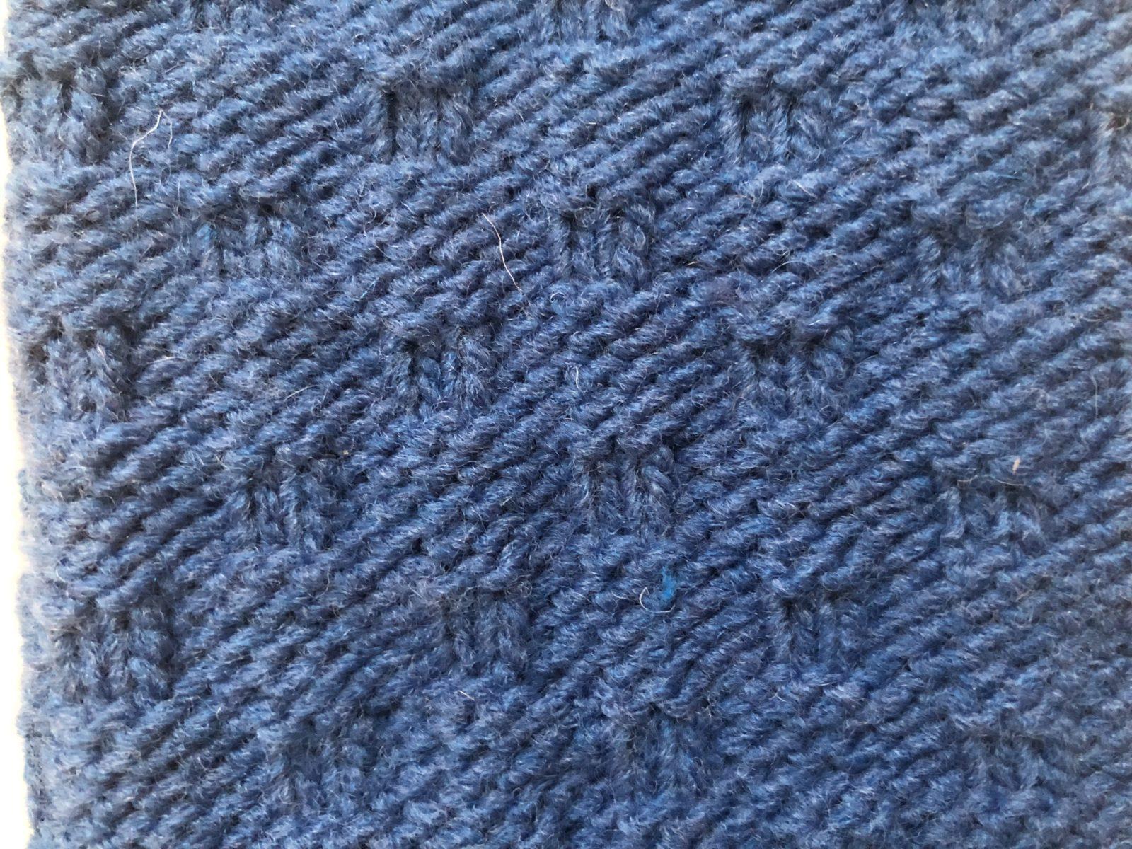 Простая плетенка спицами