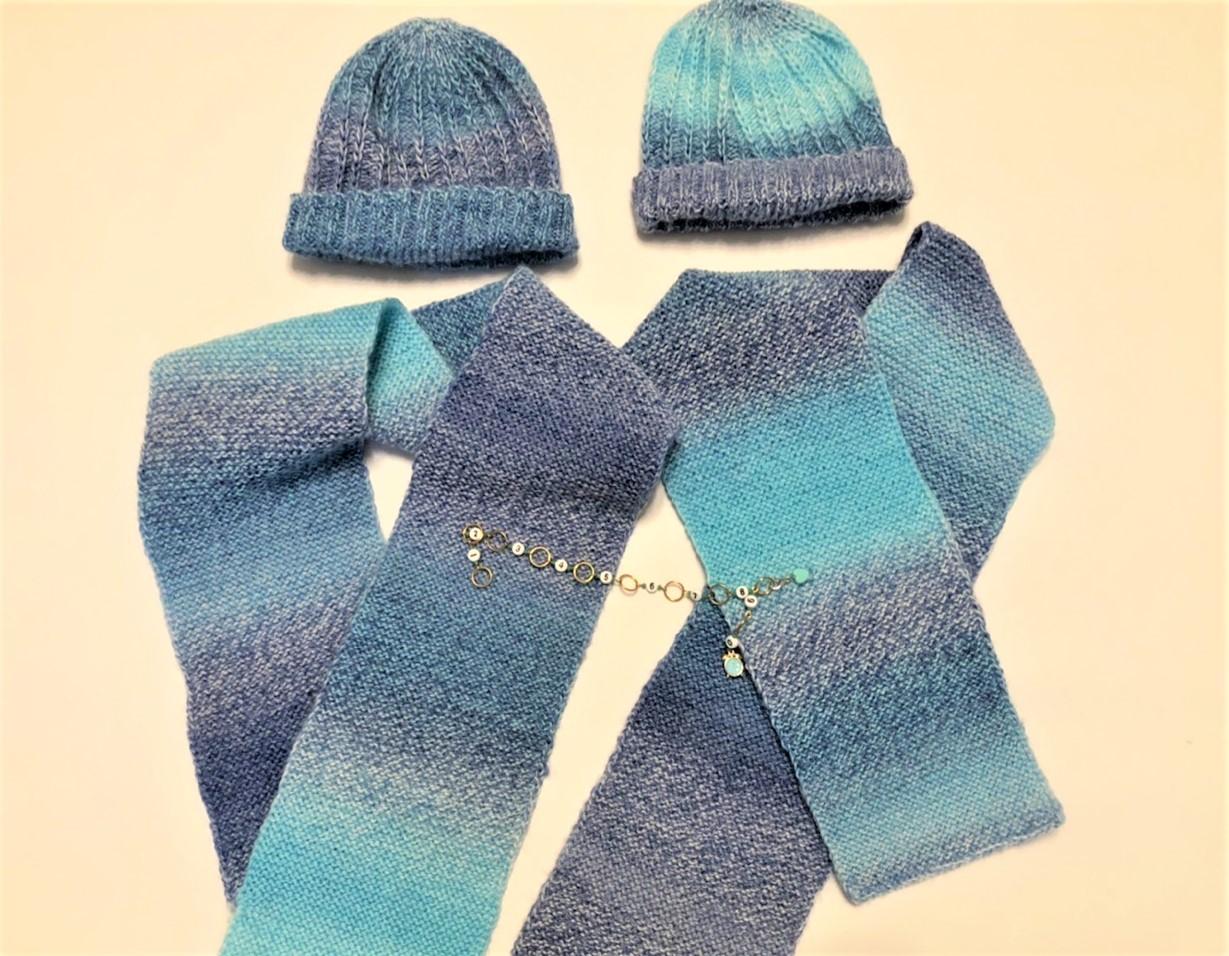 Детский шарф спицами