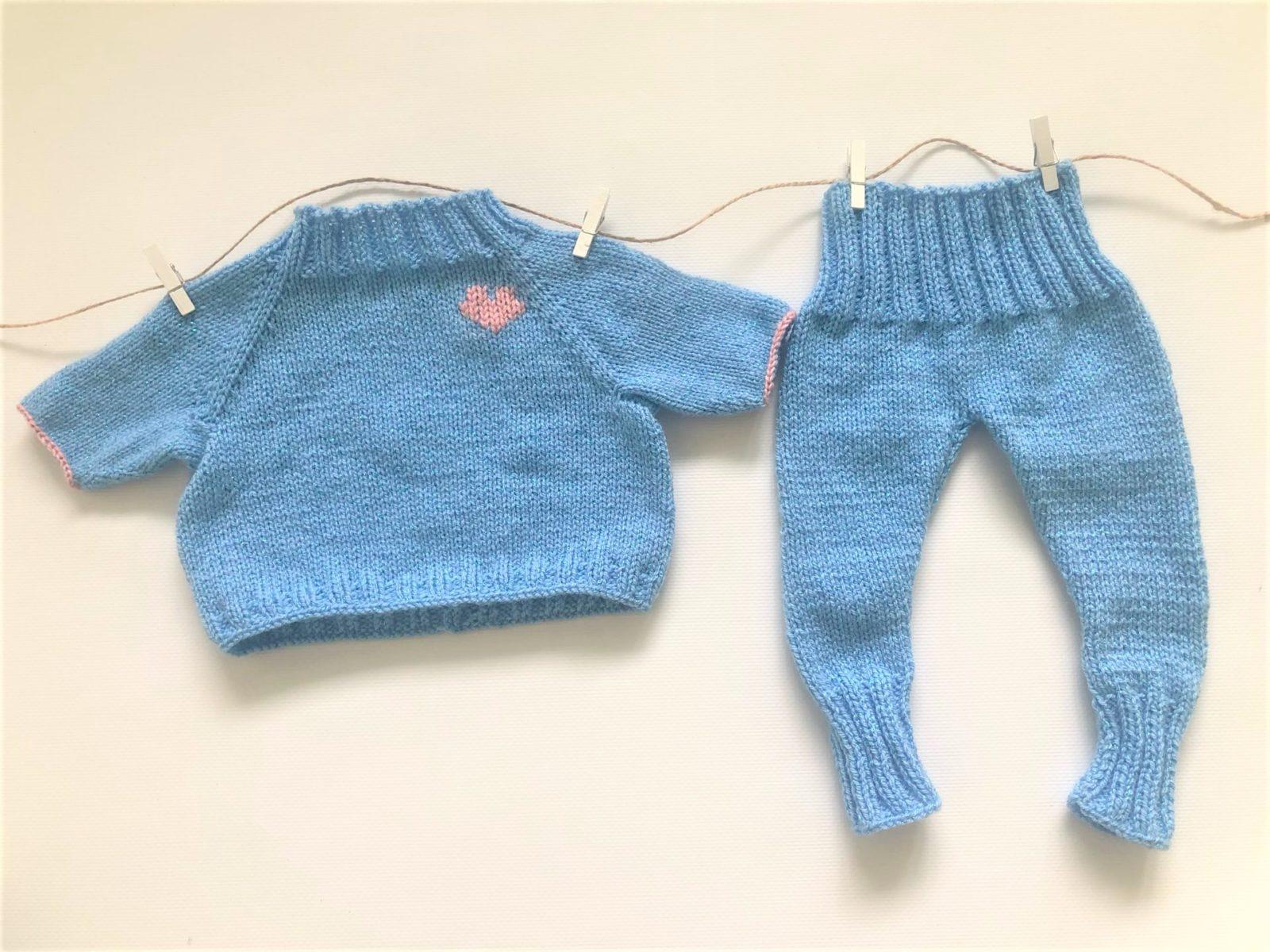 Костюм для новорожденного спицами