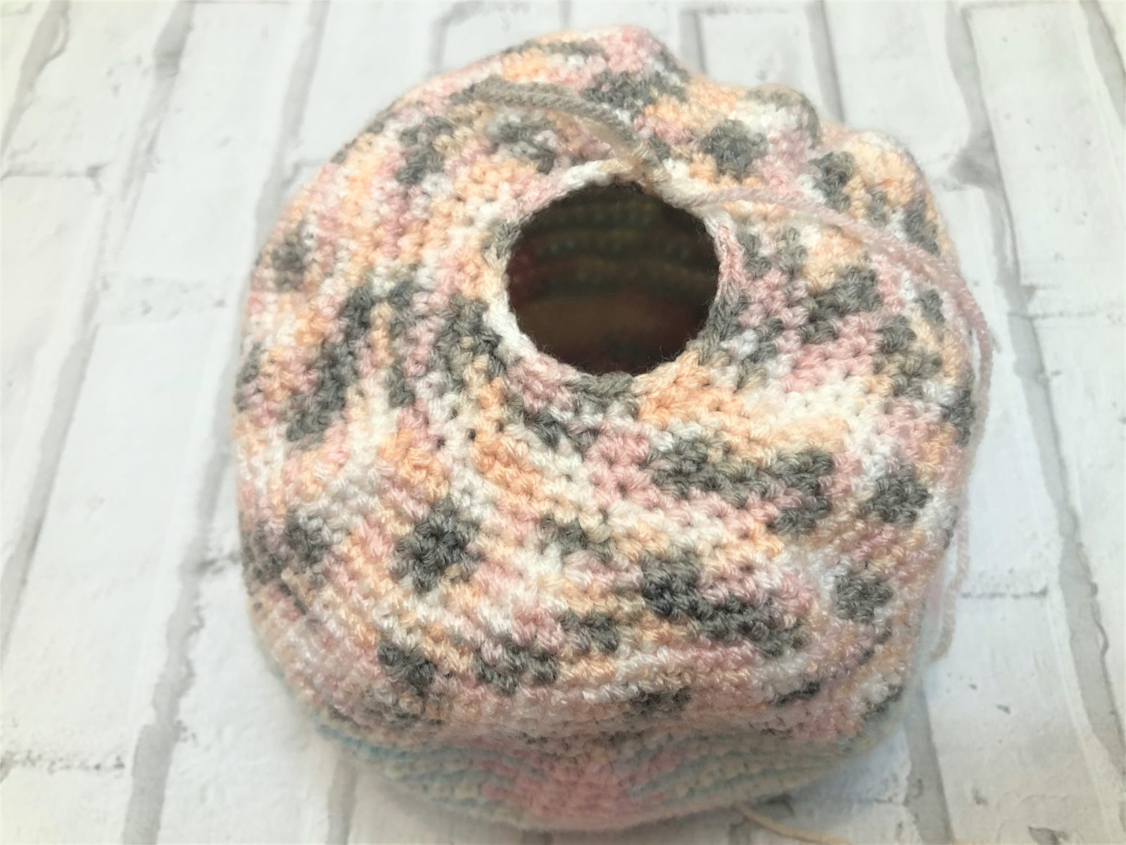 Мочалка-шар крючком