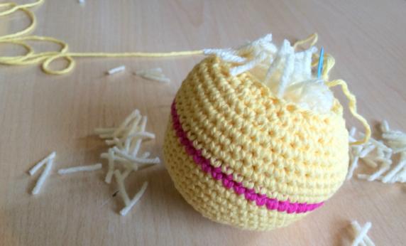 Мочалка – шар с наполнителем