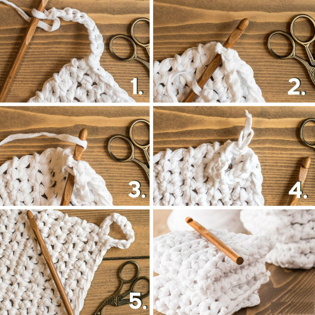 Как вязать петельку для мочалки