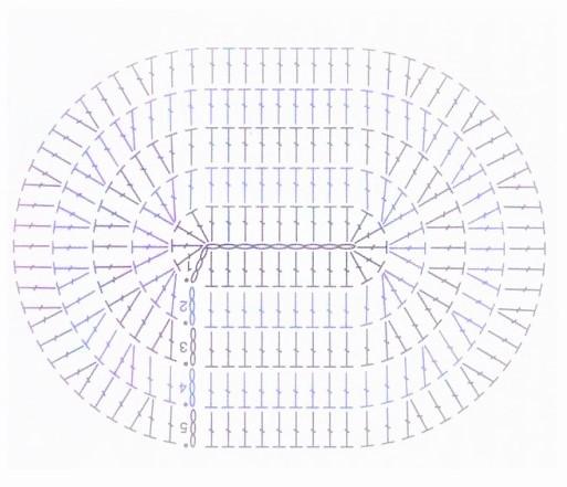 Овал крючком, схема вязания