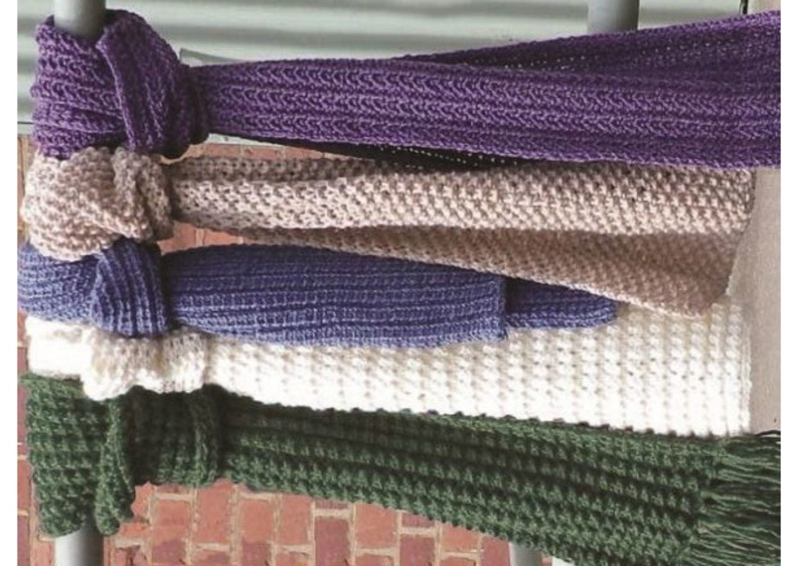 Размер вязаных шарфов