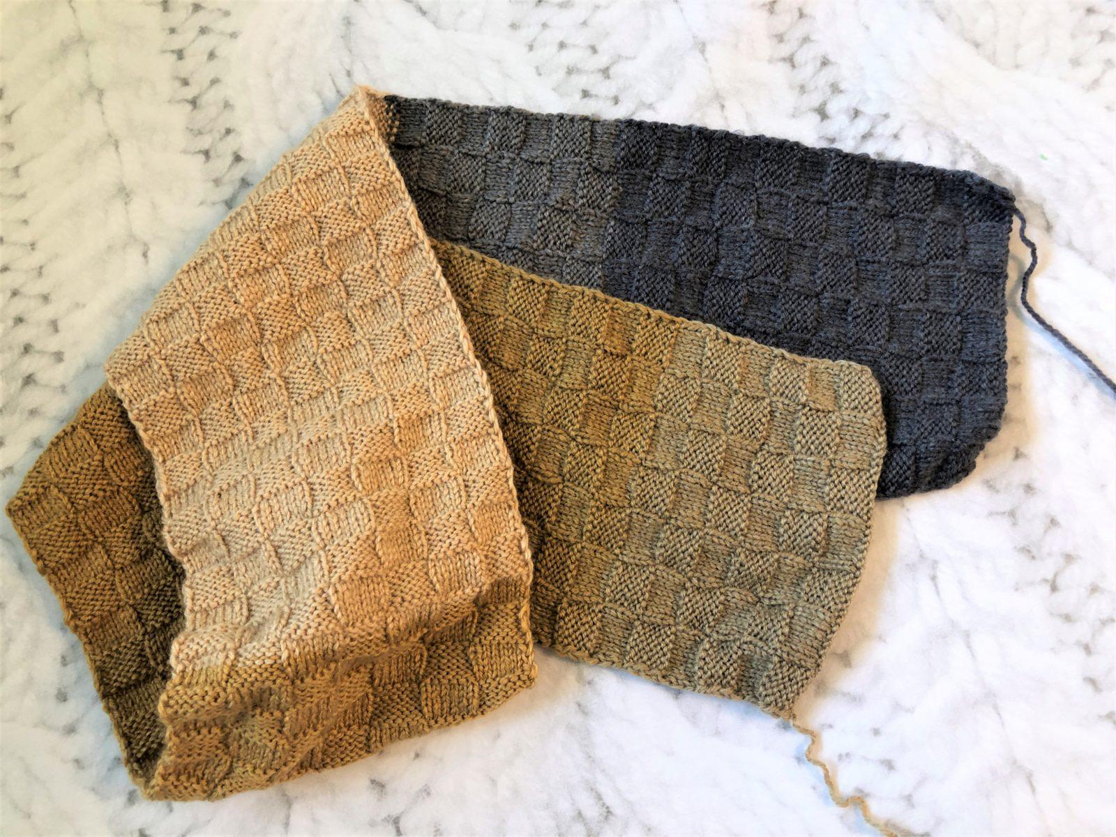 Шарф квадратами