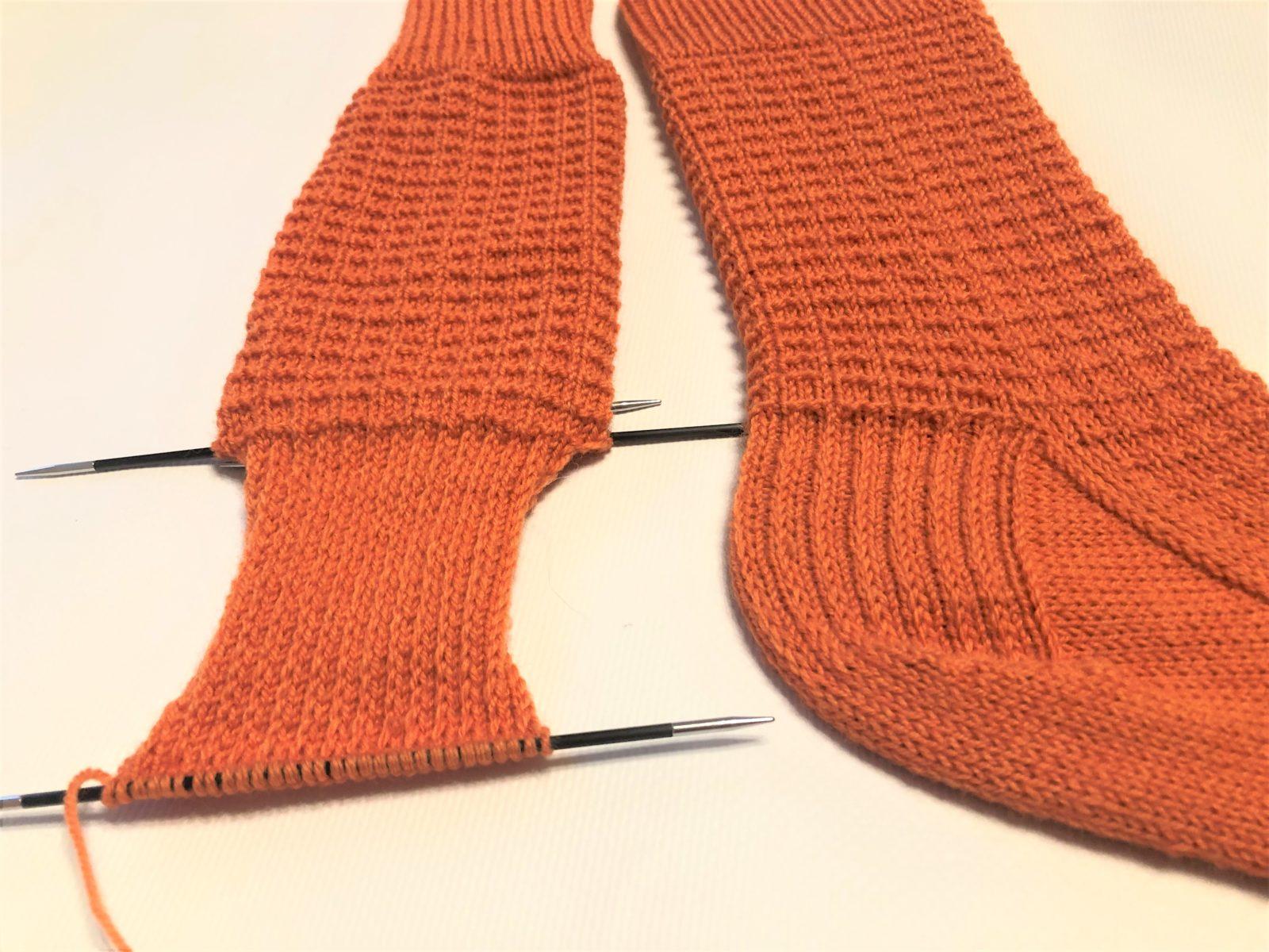 Укрепленная пятка носка