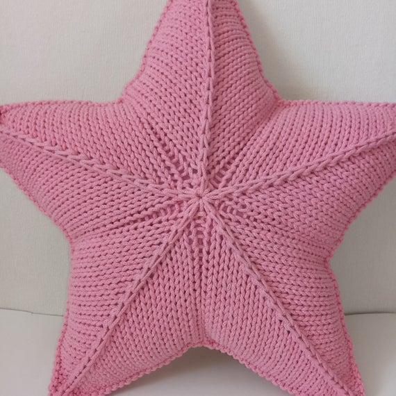 Вязяная звезда подушка