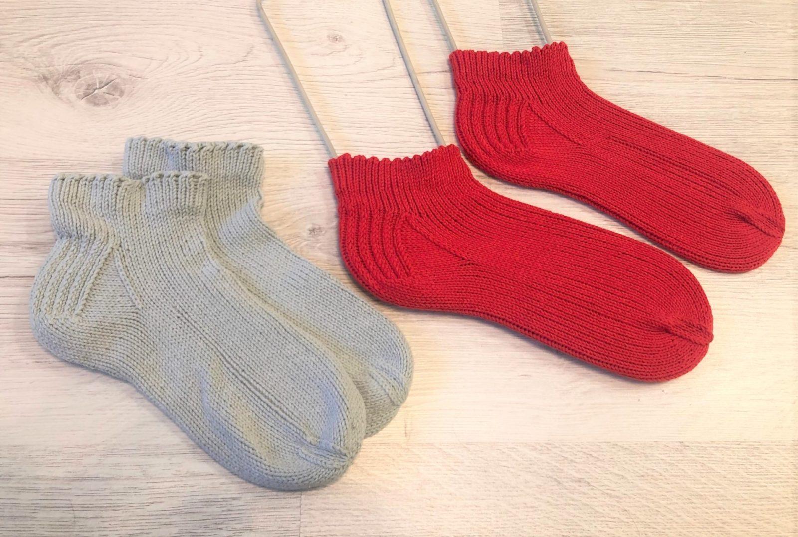 Спортивные носки на 5 спицах