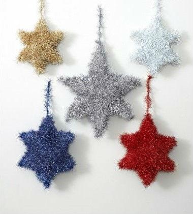 Новогодние вязаные звезды