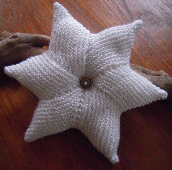 Звезда изнаночными петлями спицами